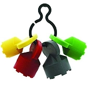 Neoperl 11 9110 5 Cache Plastic Clip with 4 Keys, 1 of Each Size
