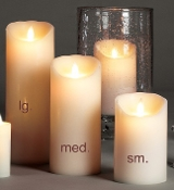 Flameless Candle Set (3 Pcs: sm/med/lg)