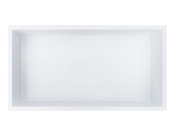 12 in. x 24 in. Stainless Steel Shower Niche in Polished White